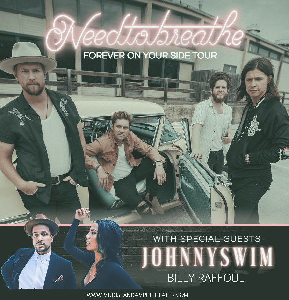 Needtobreathe, Johnnyswim & Billy Raffoul at Mud Island Amphitheater